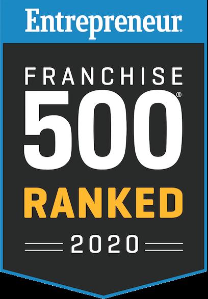 Entrepreneur Franchise 500 ranking badge for Sky Zone